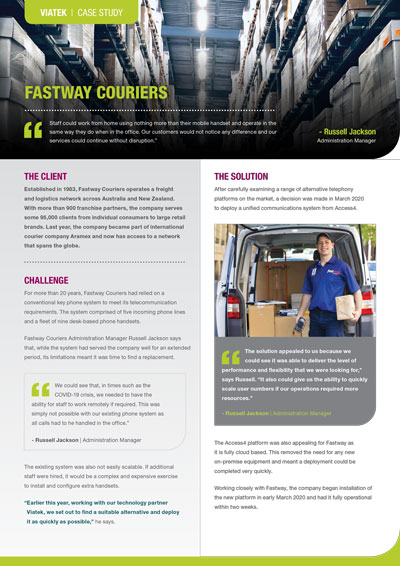 Fastway Couriers Case Study