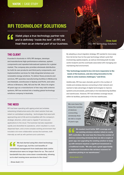 RFI Technology Solutions Case Study